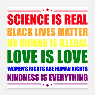 Lives Science is Real - Kindness is Everything - Poster