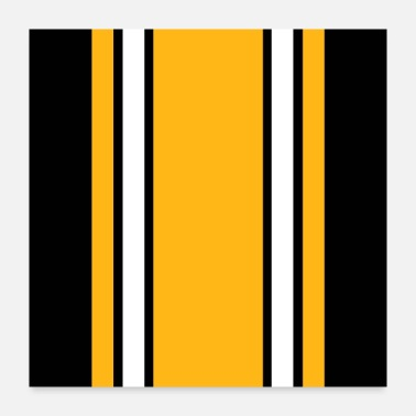 Black And Gold Pittsburgh Black And Gold Stripes - Poster