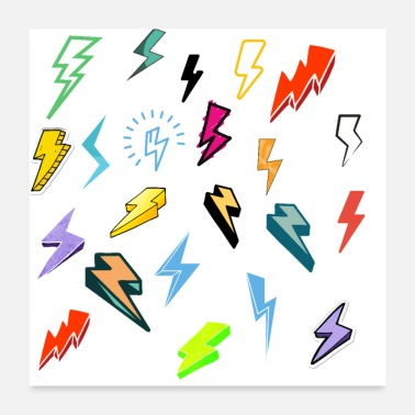 Bolt Just for Fun - Lightning Bolts - Poster