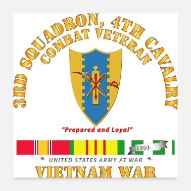 United Army 3rd Squadron 4th Cav Vietnam War w VN SVC - Poster