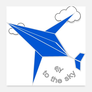 Startup fly high to the sky - Poster