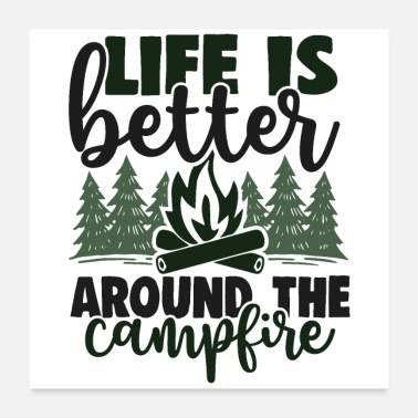 Outdoor Outdoor Lagerfeuer Camping - Poster