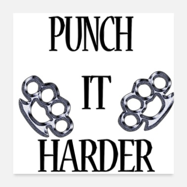 Metalcore Punch It Harder - Poster