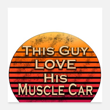 Guy Fawkes this guy love his Muscles car - Poster
