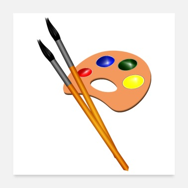 Paint Brush Shades with paints Brushes GIFT Children Youth Man - Poster