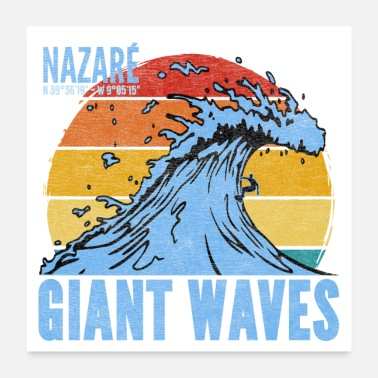 Waves Giant Waves - Poster