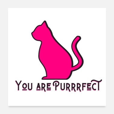 Cat Lover Purrrfect Cat -Cat Lovers - Poster