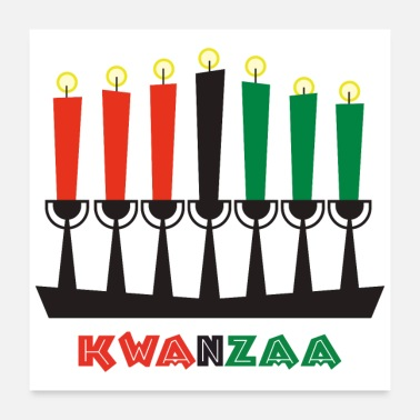 African Symbol Kwanzaa Religious Symbol Pan-African Flag colors - Poster