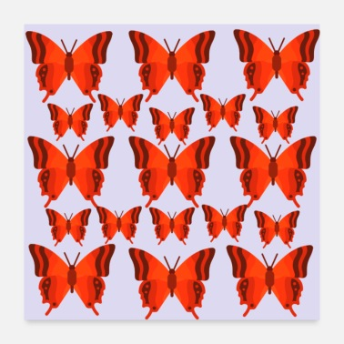 Red butterfly - Poster