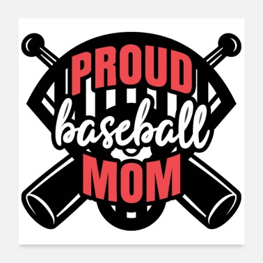Foul PROUD BASEBALL MOM - Poster