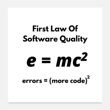 Java First Law Of Software Quality, errors equal more c - Poster