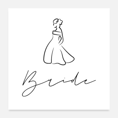 Bride Logo Wedding dress bride - Poster