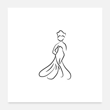 Bride Logo Bride New Wedding Dress - Poster