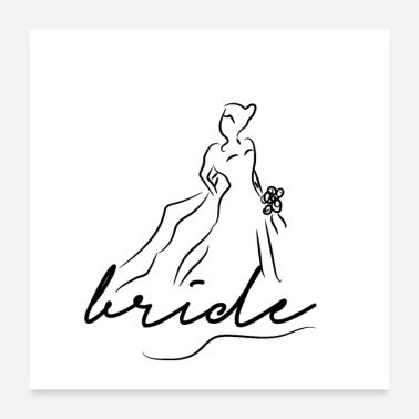 Bride Logo Bride Dress Wedding - Poster