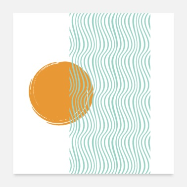 Abstract Sun abstract sun beach - Poster