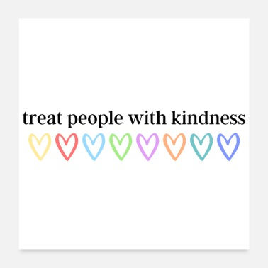 Marriage Equality Treat people with kindness (black) - Poster