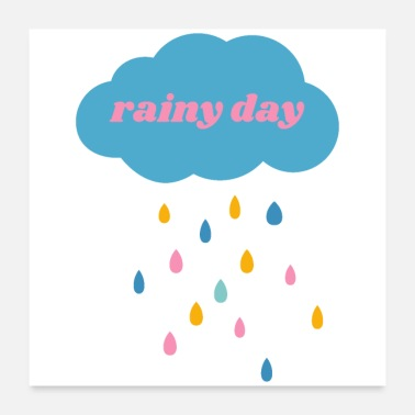 Rainy Day Rainy Day (pink) - Poster