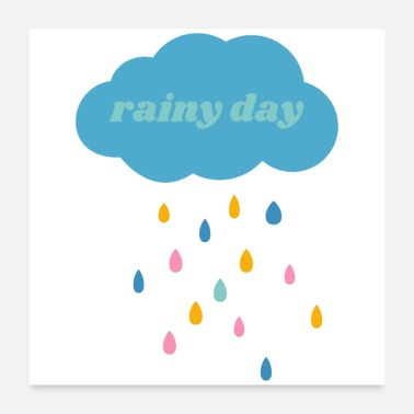 Rainy Day Rainy Day (green) - Poster