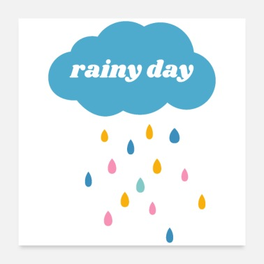 Rainy Day Rainy Day (white) - Poster