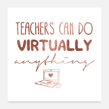Online Teachers Virtually Online Education - Poster