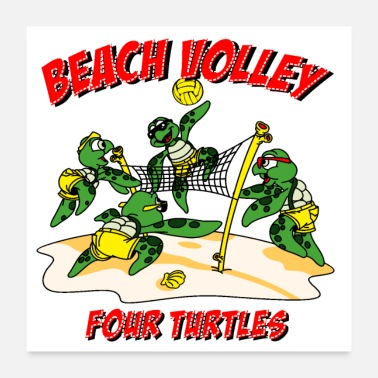 Volley Beach volley turtle - Poster
