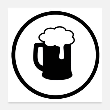 Atlas Beer Symbol * Bier Icon * Jack Joblin Design - Poster
