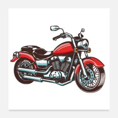 Racing Motorcycle Motorcycle race - Poster