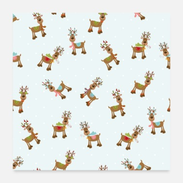Christmas Present Funny presents for Christmas with reindeers - Poster