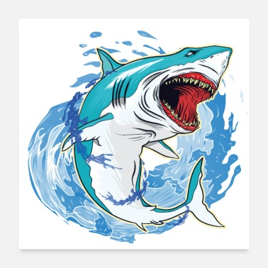 Shark Fin Shark Splash - Poster