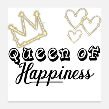 Funny Couple Queen of Happiness for a couple - Poster