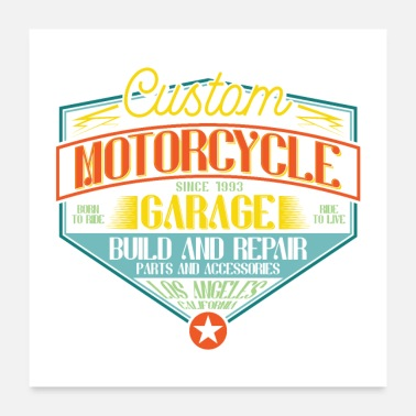 Custom motorcycle garage build and repair - Poster