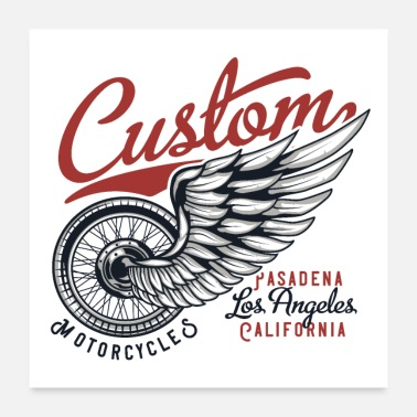 Custom motorcycle - Poster