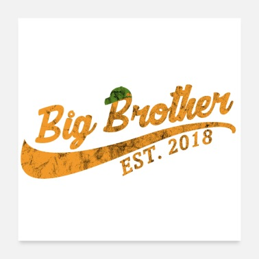 Established Big Brother Established 2018 - gift idea - Poster