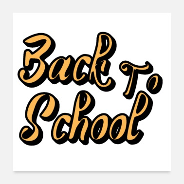 Backhand Back to school - Poster