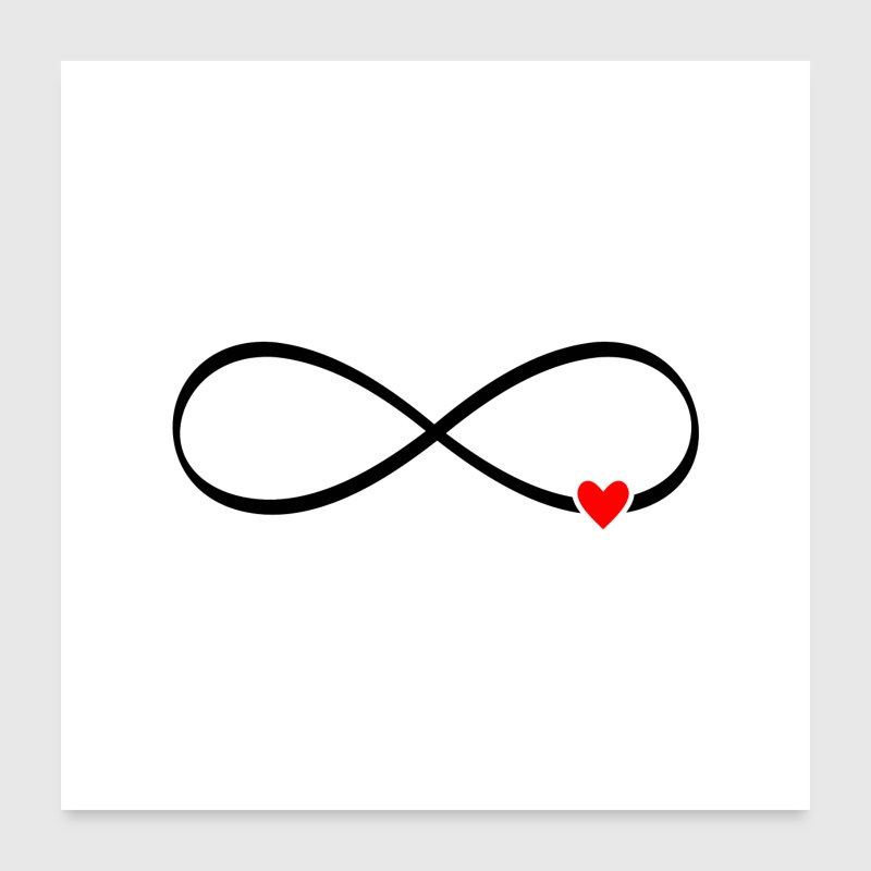 infinity heart love gift poster - Poster 24x24
