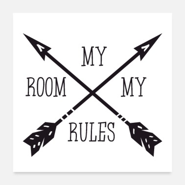 Typography MY ROOM MY RULES - Poster