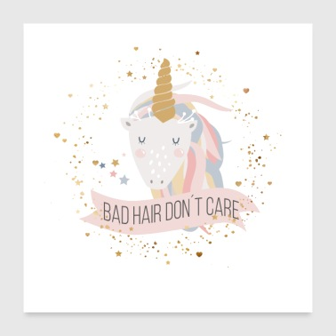 Bad Bad hair don t cair - Poster 24x24