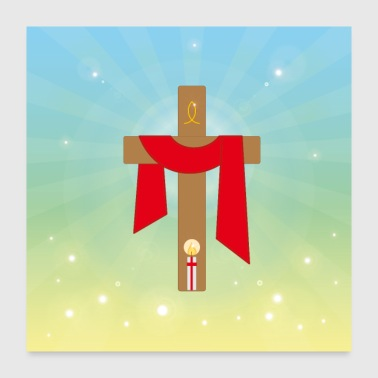 Jesus Christ cross light. - Poster 24x24