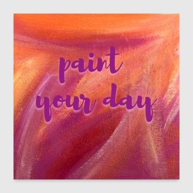 Poster Yoga paint your day - Poster 24x24
