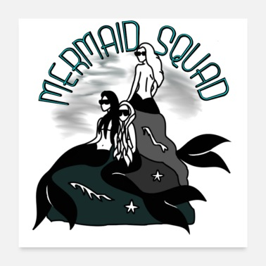 Group Mermaid Squad - Poster 24x24
