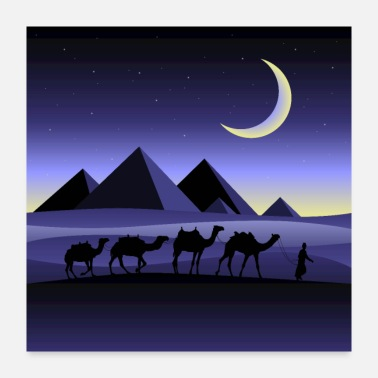 Egypt Night in Egypt - Poster 24x24