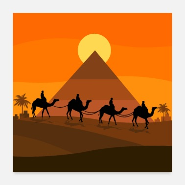 Egypt Walk in the dunes - Poster 24x24
