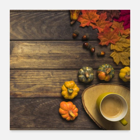 Thanksgiving Posters - Fall Arrangement - Posters white