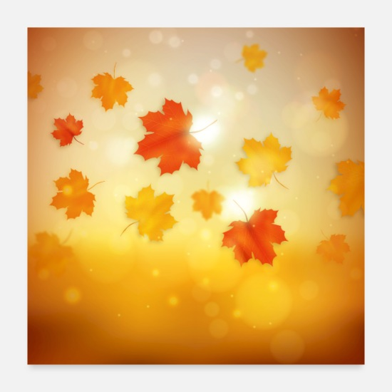 Autumn Posters - Autumn leaves - Posters white