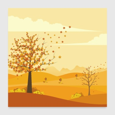 Autumn day - Poster 24x24