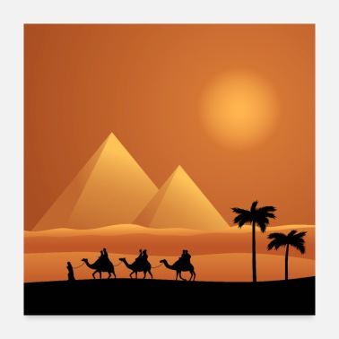 Egypt Landscape Egypt with camels - Poster 24x24