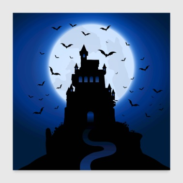 A haunted castle - Poster 24x24