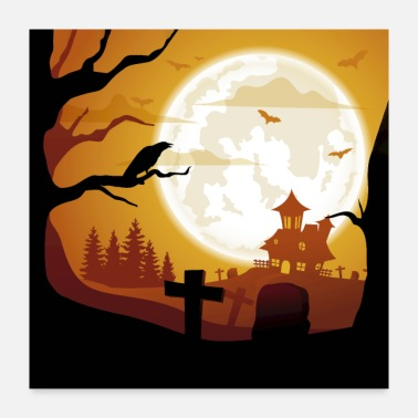 Attractive Castle Cemetery - Poster 24x24