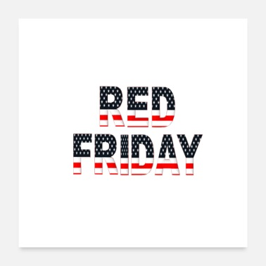 Military Red Friday Military - Poster 24x24
