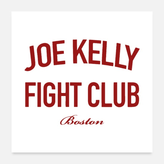 Joe Posters - Red Tee Joe Kelly logo - Posters white